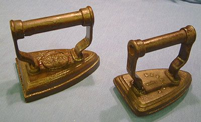 Antique Kenrick cast iron clothes irons