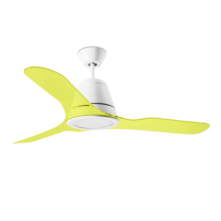 New coloured range for TIGA ceiling fan. Yellow. Decorative I The One, LEDS-C4.