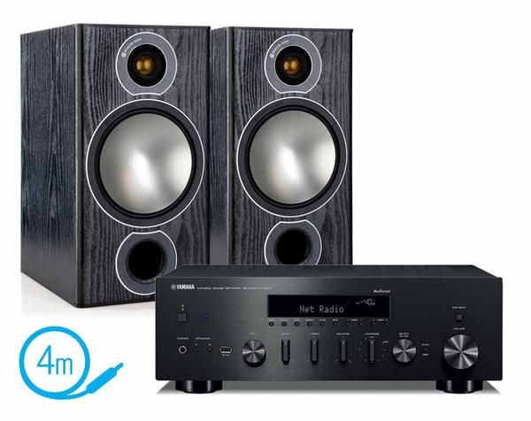 Yamaha R-N602 Network Amplifier, Monitor Audio Bronze 2 Bookshelf Speakers and 4m of Audioquest G2 Speaker Cable. Free delivery! More R-N602 packages available.
