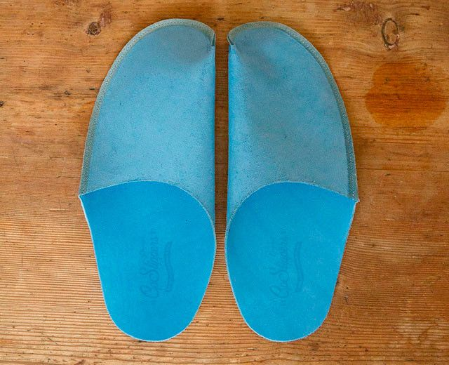 Blue Leather Slipper