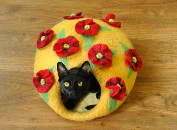 Cat Cave / Felted Wool / 100% natural eco от CatHouseStore на Etsy