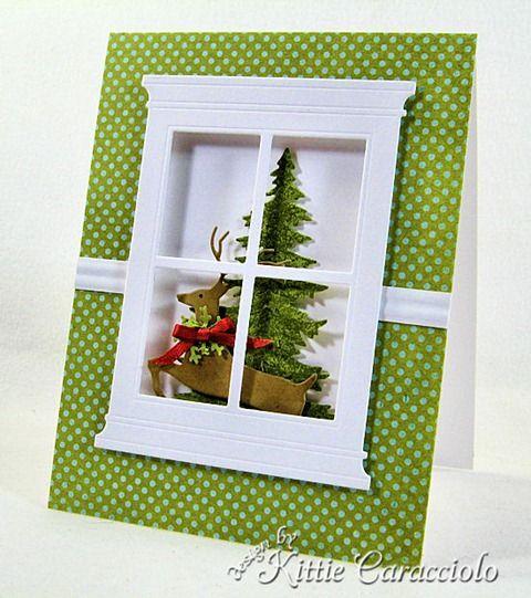 Новогодняя открытка окошко