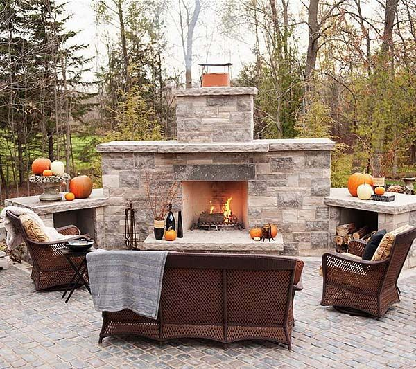 1000+ Ideas About Outdoor Fireplace Designs On Pinterest