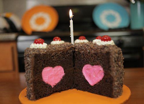 Portal cake heart