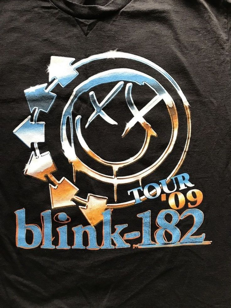 Blink 182 T Shirt 2009 Concert Tour w/ Fallout Weezer Medium double sided   #Unbranded #GraphicTee