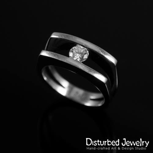 'True love is like a #diamond. Rare, beautiful, unbreakable and lasts for ever' Custom Diamond Engagement Ring. #custom jewelry #customdesign #diamondrind #diamondjewelry #18carats #disturbed_jewel