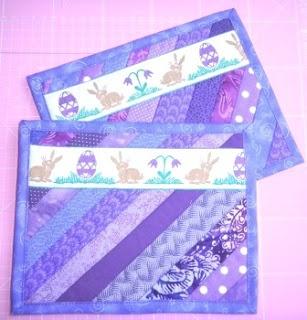 Free pattern for several mug rugs - (german lang.)