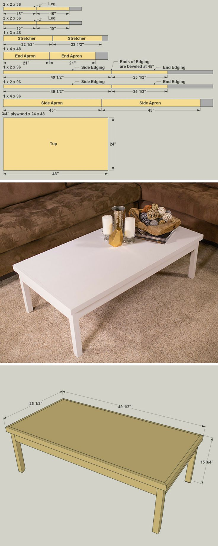 How to make a sofa table from 1 x 6 lumber - Even If You Ve Never Built Furniture Before You Can Create This Super Simple