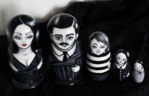 Addams family matryoshka dolls