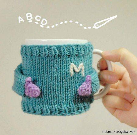#cup #mug #cozy #knitting