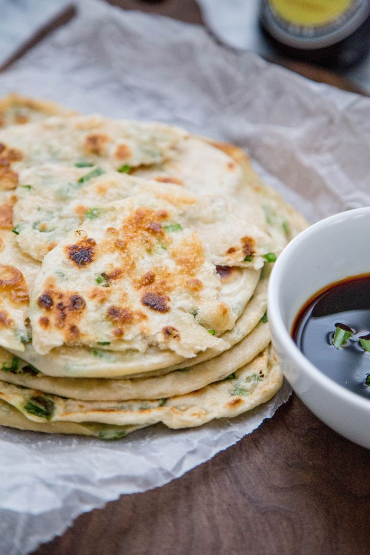Chewy, flaky, and savory scallion pancakes are one of our very favorite Chinese restaurant treats