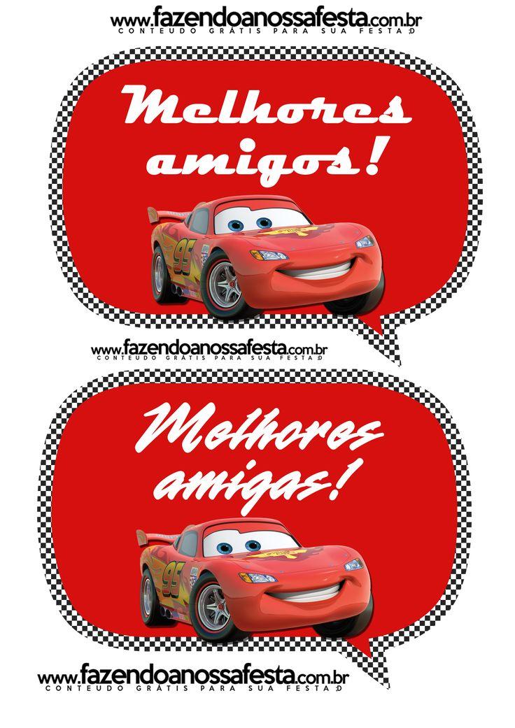 Plaquinhas Divertidas para Fotos Carros da Disney: