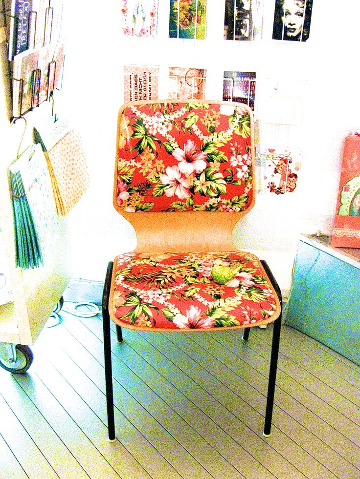 old chair with a brave new dress...