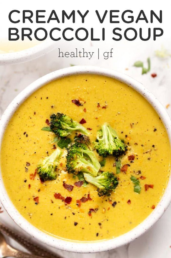 Vegan Creamy Broccoli Soup Simply Quinoa Recipe Easy Vegan Soup Vegan Soup Recipes Broccoli Soup Recipes