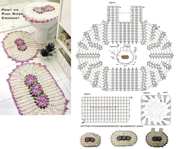 ALFOMBRA DE BAÑO: Game Of, Bath, Crochet Patterns, Crochet Doilies, Crochet Home, Tapet Crochet, Crochet Items, Crochet Bathroom