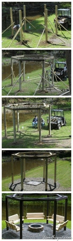 DIY Campfire Swings garden diy gardening diy gardening diy images diy garden diy campfire swings swings campfire