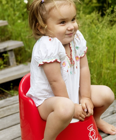 The BABYBJÖRN Potty Chair helps your child graduate from the diaper stage. Find it and more at www.boomersandechoes.com