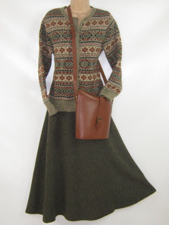 L A U R A A S H L E Y  I dont like ephemeral things, I like things that last forever  A COUNTRY CASUAL MAXI SKIRT IN WOOL TWEED  THE
