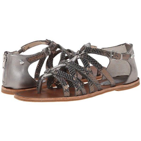 Tommy Bahama Halina (Pewter) Women's Sandals ($59) ❤ liked on Polyvore  featuring
