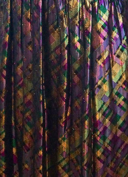 victoria royal robe 39 carreaux 39 tissu m tallis iris ann es 70 couture victoria royal. Black Bedroom Furniture Sets. Home Design Ideas