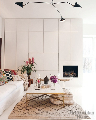 Luxuriate in the Living Room. White. Interior Designer: unknown.
