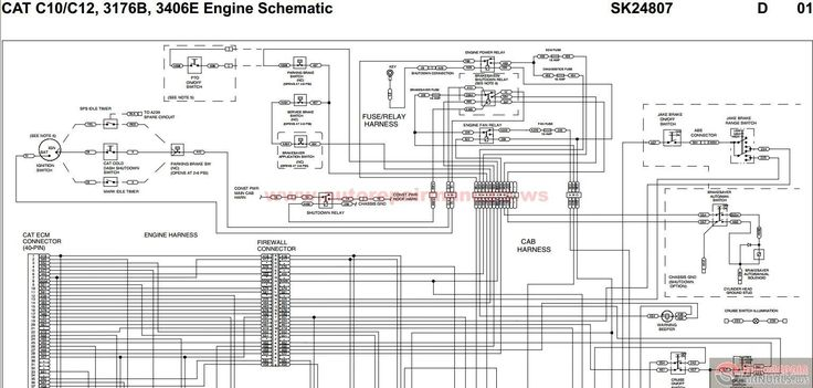 Wiring Diagram Cat 3406 Ecm Caterpillar, 3406 Cat Engine Wiring Diagram