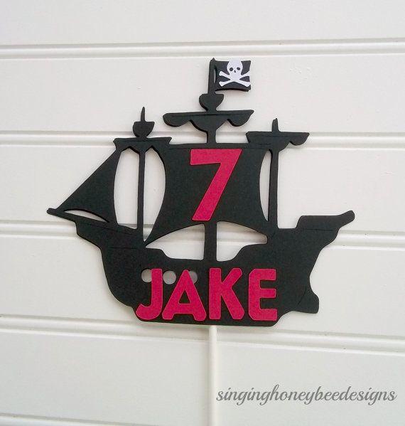 topper de gâteau bateau pirate topper par thesinginghoneybee