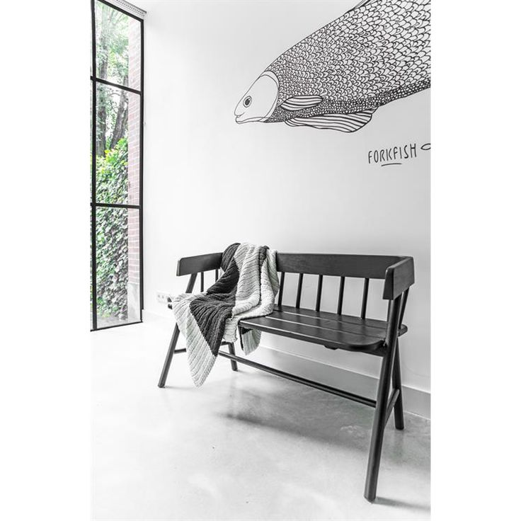 Wooden Black Bench • WOO Design