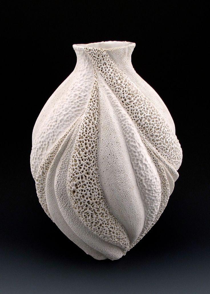 coral collage venus large vase by judi tavill ceramic vase