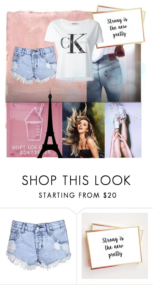 """""""Paris-City-Tour♡"""" by style-heaven ❤ liked on Polyvore featuring Rothko, Glamorous and Calvin Klein Jeans"""