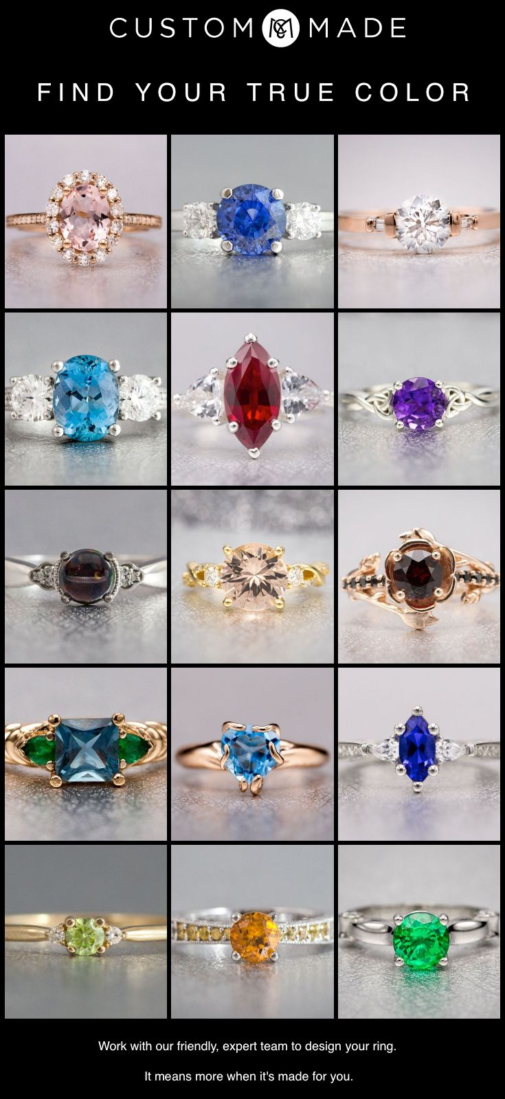 32 best colored gemstone engagement rings images on pinterest a world of gem and color possibilities each with a rich history symbolism non diamond engagement ringssapphire buycottarizona