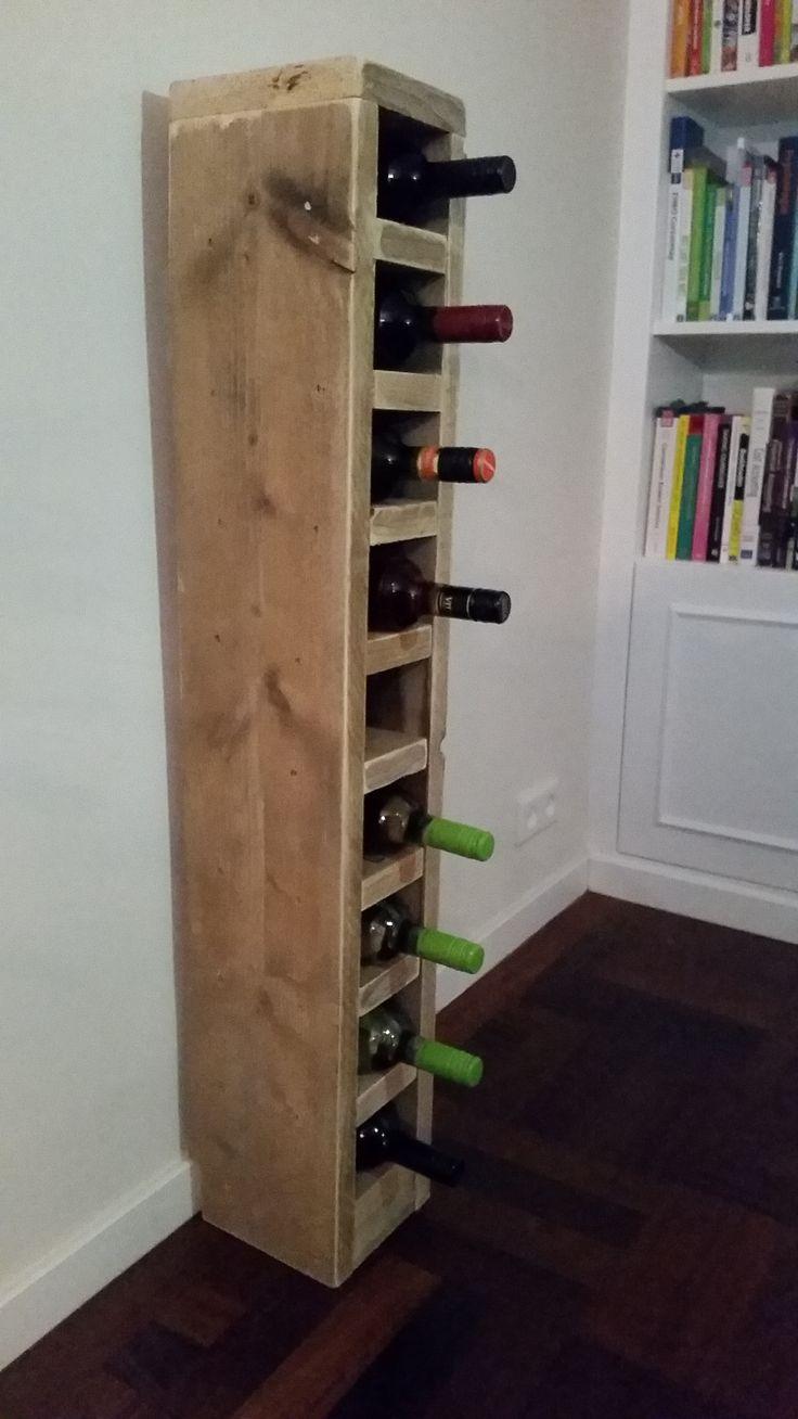 Stoer staand wijnrek gemaakt van steigerhout houten wijnrekken pinterest wijnrekken - Ventilatie grot een vin ...