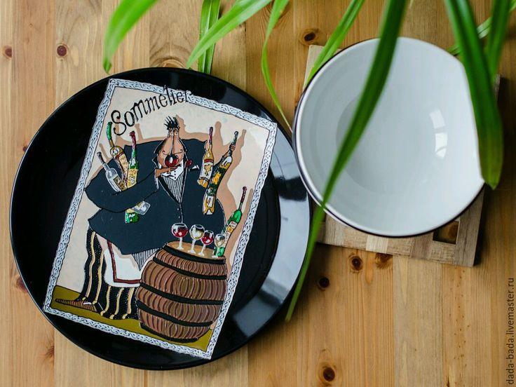 Тарелка керамическая настенная Французский Семилье 27см - Дядя Бадя (Dada-bada) - Ярмарка Мастеров http://www.livemaster.ru/item/13408833-posuda-tarelka-keramicheskaya-nastennaya