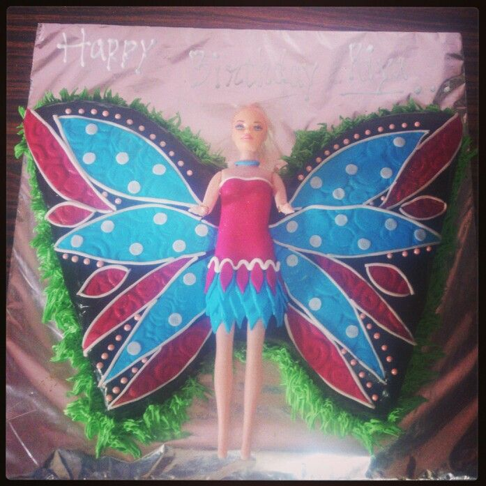 Butterfly Barbie Cake Images : Butterfly barbie cake.... My cakes Pinterest Barbie ...