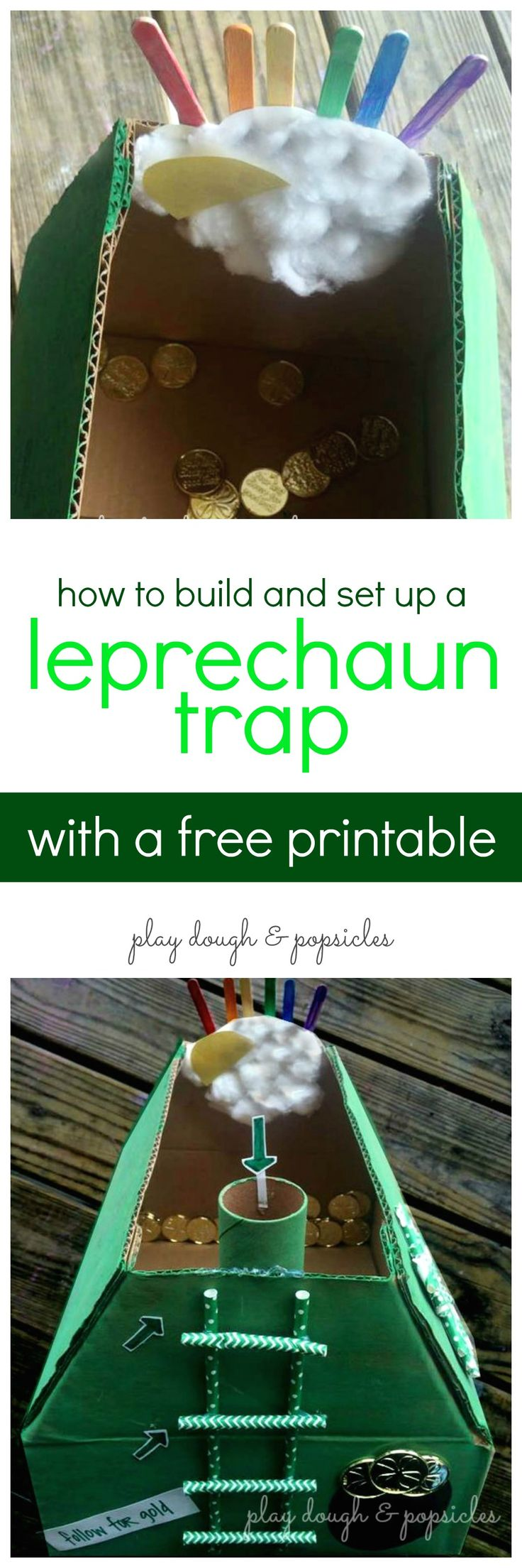 How To Build A Leprechaun Trap with Letter From The Leprechaun. St. Patrick's Day Craft for Kids!
