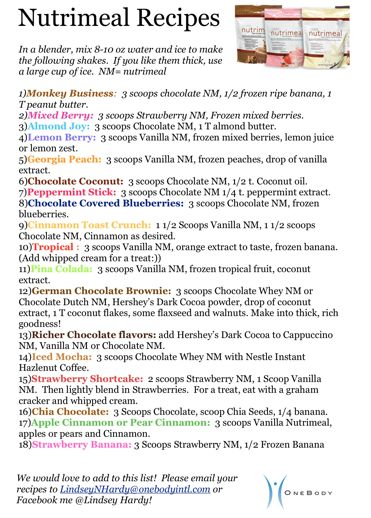 Message me to receive a PDF of these recipes!! @http://www.facebook.com/LindseyHardyInspiringOptimalHealth?fref=ts    www.lhardy.usana.com