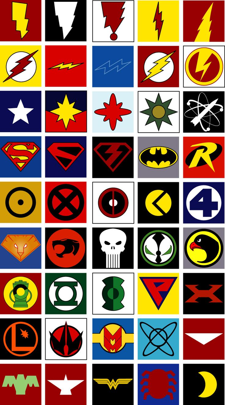 All Superhero Symbols | Usuario registrado                                                                                                                                                     Más