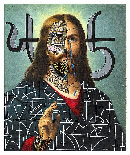 Asemic Art Writting, Collage Barrager, Jesus Collage, Artworks Reworked, Vazko Jesus, Basco Vazko, Visual Art, Bascovazko