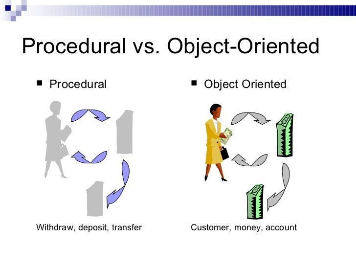 comparison of object oriented and structured Structured versus object-orien structured versus object-oriented design topic study notes  comments log in sign up log in to continue log in to save your progress and obtain a certificate in alison's free diploma in information technology management - revised 2017 online course.