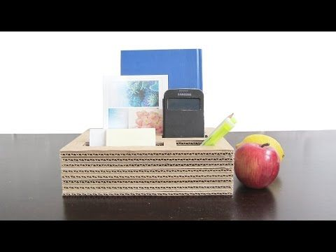 Cardboard organizer DIY - best out of waste project - EzyCraft - YouTube