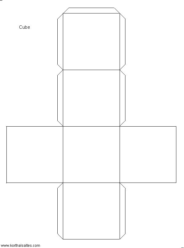 modelo de papel de un cubo