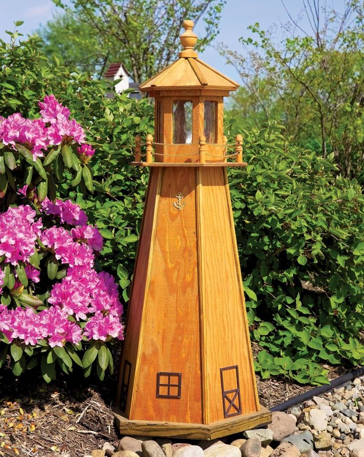 Amish Wooden Stained Lighthouse - $77: pinterest.com/pin/124623114661403180