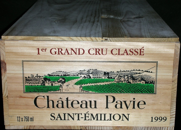 Chateau Pavie 12 Bottle Oversized Wooden Wine Crate