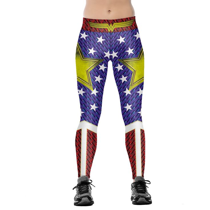 Sexy Women's Leggings Workout Fitness Trousers Star Printing Pencil Pants  Jeggings Leggins  Pantalon Femme Plus Size S-4XL