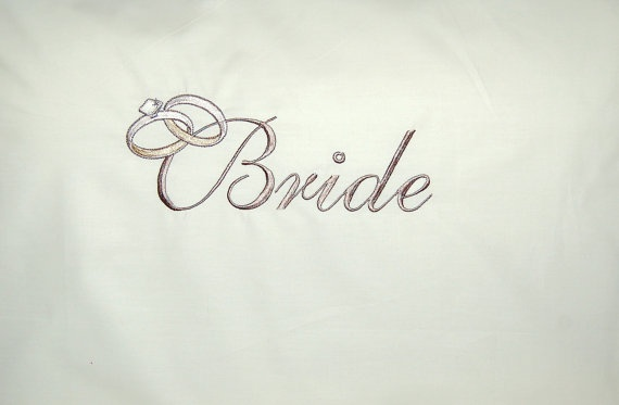 BRIDE AND GROOM 2 pcs Wedding His and Hers bedding  by letsdecorateonline, $37.90