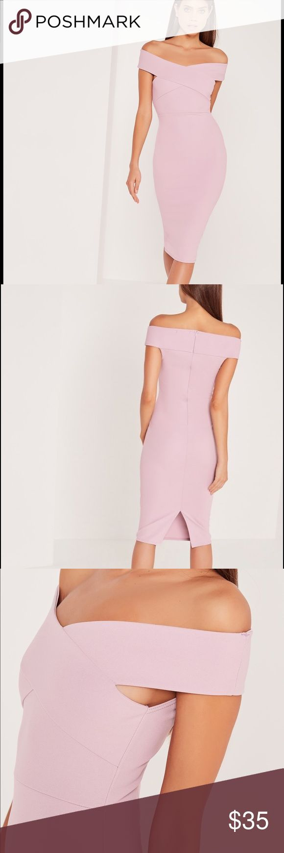 Missguided dress never been worn Soft pink color dress brand new never been worn Missguided Dresses Midi
