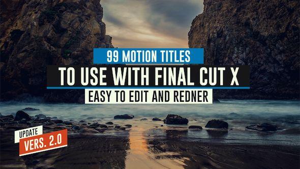 99 Final Cut X Titles Pack