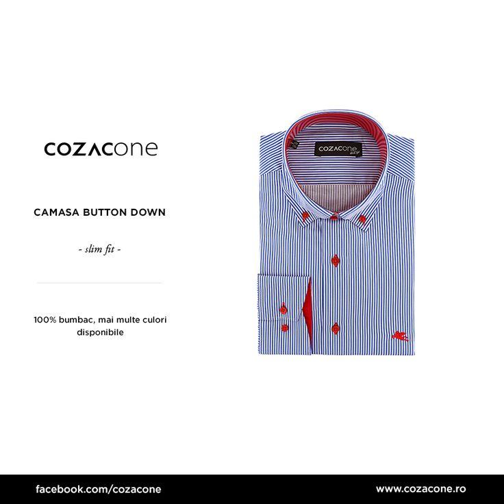 O cămașă cu dungi și nasturi contrastanți îți scoate ținutele smart casual din anonimat: http://www.cozacone.ro/produse/detalii/camasa-button-down-dungi/