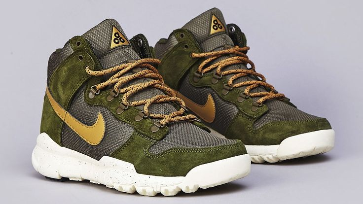 Nike Dunk High OMS - Light Green / Flat Gold / Medium Olive