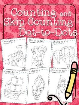 Counting and Skip Counting Dot-to-Dots ($) a fun way to practice counting by 2, 5, and 10 within 1000, transportation themed